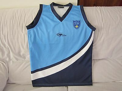 Nsw Classic Sports Cricket Singlet Jersey Size Small #8