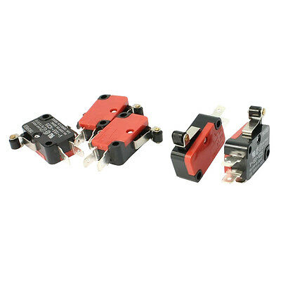5Pcs SPDT NO NC V-155-1C25 +ort Hinge Roller Lever Control Limit Micro Switch +