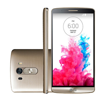 "Unlocked LG G3 D851 5.5"" Gold 13MP Quad-core 4G LTE 32GB Android TELEFONO MOVIL"