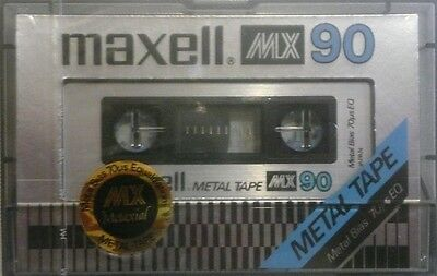 1 K7 Cassette Audio Vierge 90 Mn Maxell Metal Mx Type Iv Sous Blister