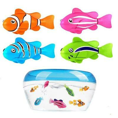 Robotic Robo Fish Water Activated Battery Powered Shark Clownfish Kids Toy LH