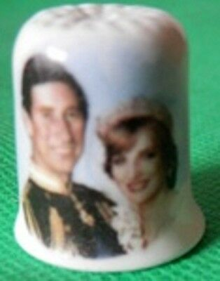 COLLECTORS' THIMBLEThimble Charles & Diana 29th July 1981 COMMEMORATION