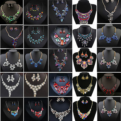 Fashion Jewelry SETS Pendant Chain Choker Chunky Statement Bib Collar Necklace