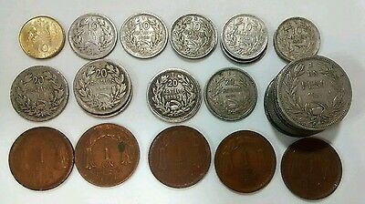 Chile Coin Lot Centavos Peso Centisimos 1921 1924 1933 1938 1940 1944 1951 1953