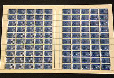 Rare and Hard to Find Full Sheet 100 Australian MNH 1967 Lions Club 4c Stamps