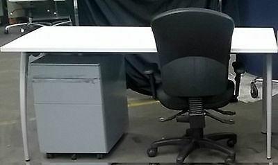 Professional Office suite Desk + Pedestal and Swivel Base Chair