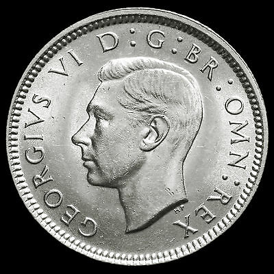 1939 George VI Silver Sixpence – UNC