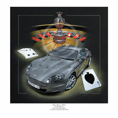 James Bond Aston Martin Dbs V12 Casino Royale Tribute Limited Edition Print