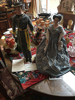 "Franklin Mint Melanie Wilkes Doll 19"" & Ashley Wilkes 20""  GONE WITH THE WIND"