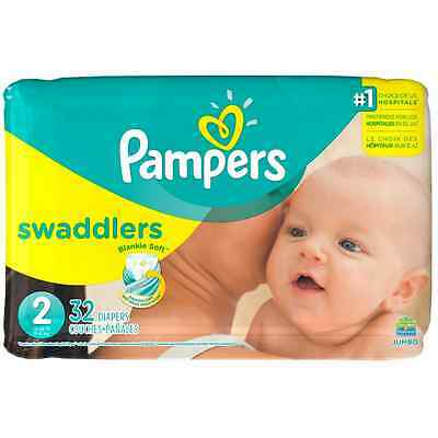 Pampers Swaddlers Diapers, Size 2 32 ea