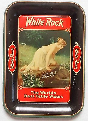 Near Mint White Rock Table Water Tin Advertising Tip Tray Great Graphic & Color