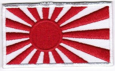 Japan Rising Sun Flag Patch Embroidered Iron On Applique Japanese