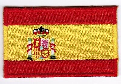 Spain Flag Patch Embroidered Iron On Applique Spaniard Spanish
