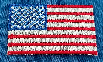 USA American Flag Patch Embroidered Iron On Applique United States of America