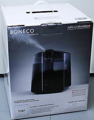 BONECO 7147 Warm or Cool Mist Ultrasonic Home Humidifier For 600 Sq Ft Room NEW