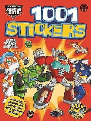 Transformers Rescue Bots 1001 Stickers BRAND NEW BOOK by Hasbro (Paperback 2015)