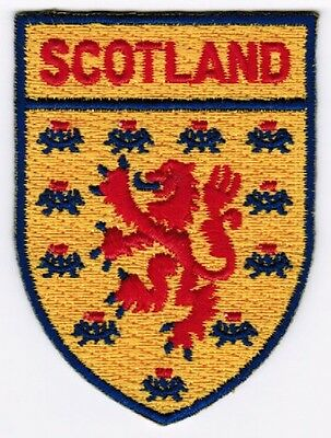 Scotland Shield Crest Patch Embroidered Iron On Applique Scottish Lion