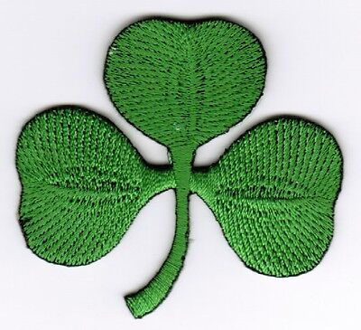 Shamrock Patch Embroidered Iron On Applique Irish Lucky Green Clover