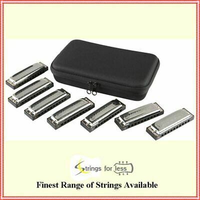 Hohner Blues Band 7-Piece Harmonica Set 1501 7 harps different Keys