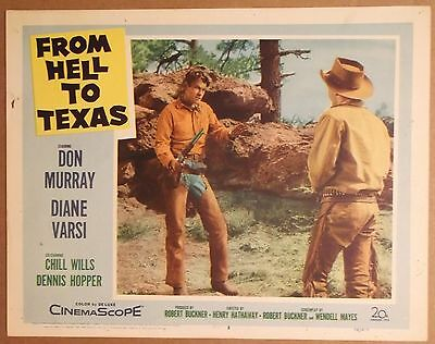 FROM HELL to TEXAS 1958 Lobby Card / Poster ~ DON MURRAY w/ Rifle