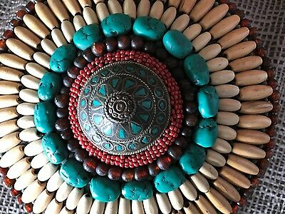Old Tibetan Beaded & Bejeweled Box …beautiful collection piece