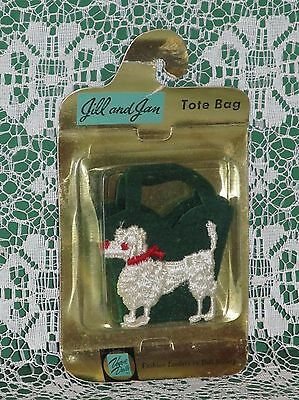 Extremely RARE Vogue Jill DARK GREEN Poodle Tote Bag Purse MINT IN PACKAGE!