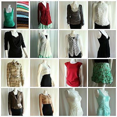 Lot of 100 pcs Assorted New Womens Juniors Tops Clothing Mixed Sizes Liquidation