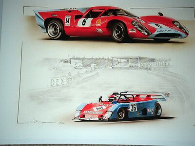 Lola T70 T 70 Lola T280 T 280 Christmas Driving Test Good Luck Greeting Card