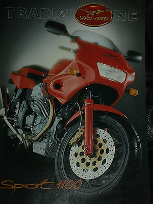 Moto Guzzi Sport 1100 1994 Sales Brochure Prospekt Rare English Language