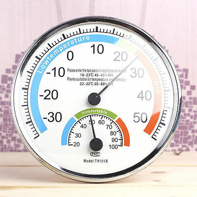 Luxurious Detailed Outdoor Indoor Thermometer Hygrometer Temperature Humidity Me