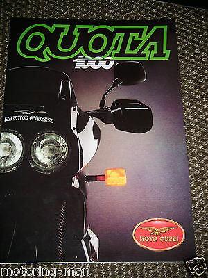 Moto Guzzi Quota 1000 Moto Guzzi Quota 1000 Motorcycle Sales Brochure Prospekt