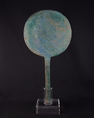 Rare ancient Luristan very large bronze mirror
