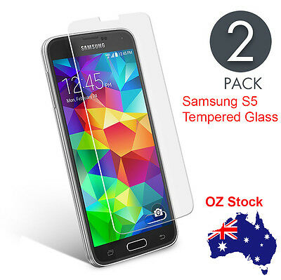 2 x Scratch Resist Tempered Glass Film Screen Protector for Samsung Galaxy S5