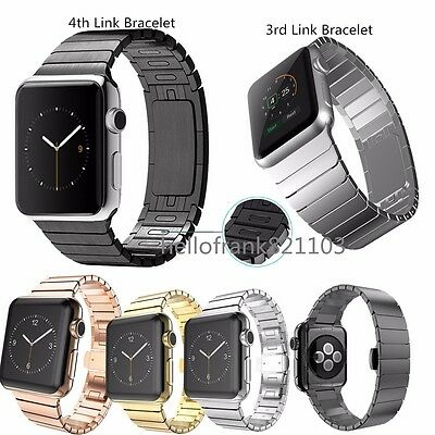 316L Stainless Steel Link Bracelet Band Strap for Apple Watch 38 42mm Series 2 1