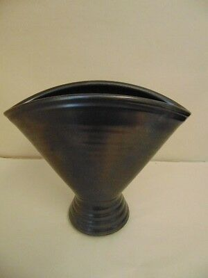 Stunning, Collectable, Prinknash Pottery, Gun Metal Grey, Vase