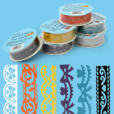Washi Lace Self Adhesive Craft Tape - Lace Design, Choice of Shades