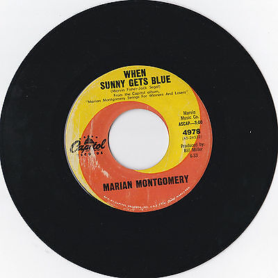 """Marian Montgomery * When Sunny Gets Blue * Us 7"""" Single Capitol 4978 Plays Great"""