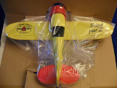 1992 Speccast Pennzoil Travel Air Model R Mystery Ship Die Cast Metal Bank