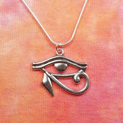 Eye of Horus Necklace, Egypt Egyptian Wadjet Udjat Hathor Ra Charm Pendant Gift