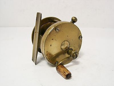 "Vintage Antique Early Brass 2"" Multiplier Fly Fishing Reel"