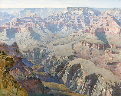 El Tovar Hotel Grand Canyon  by Louis Akin   Giclee Canvas Print Repro