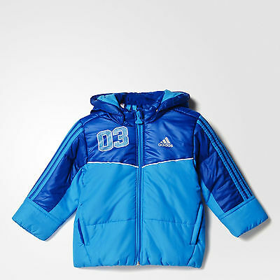 adidas baby boys blue padded coat. Infants coat. Infant jacket. Various sizes!