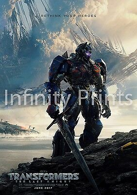 Transformers The Last Knight Movie Film Poster A A2 A3 A4