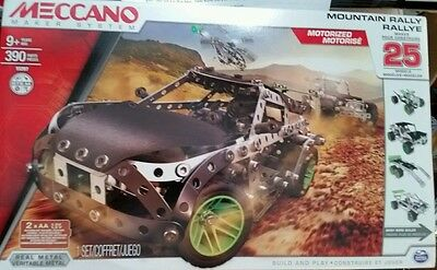 Meccano Maker System Mountain Rally Vehicle 15207 Construction Set - Sealed New