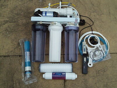 Reverse Osmosis 50 Gpd 5 Stage + Booster Pump Water Purifier Fish Tank Ro-50Gpd