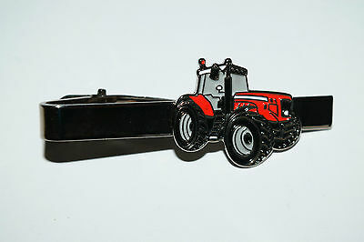 Massey Ferguson Red Tractor Tie Clip Novelty Farming Enamel Suit inc gift POUCH