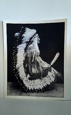 Native American Indian Photo of Charging Bear: Blackfoot Teton Sioux- size 10x8