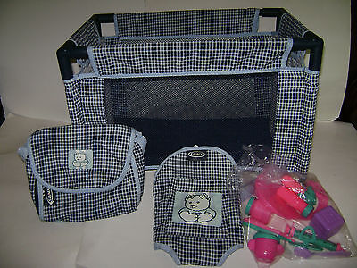 Graco Baby Bed Crib Playpen Pack N Play Diaper Bag Backpack Doll Carrier & Acc.