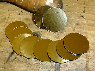 Gold plastic disc 31mm dia. Bag of 10