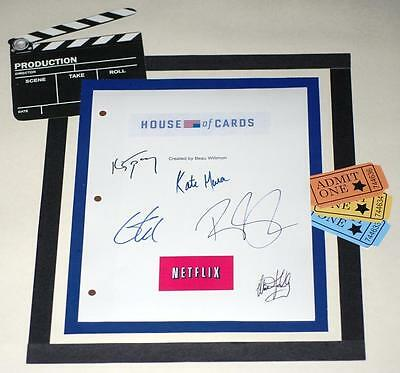 House Of Cards Pilot Script Signed Kevin Spacey  Robin Wright  Michael Kelly